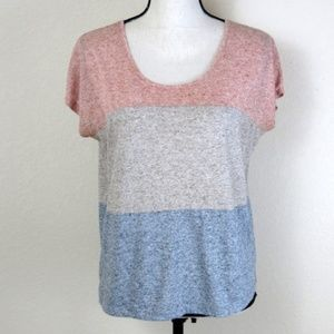 Kensie Long Crop Tee-Shirt Size S
